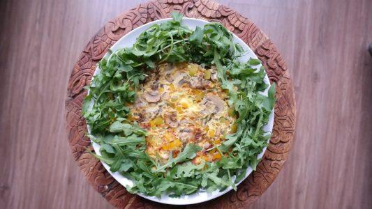 Omelet-van-champignons-en-ui
