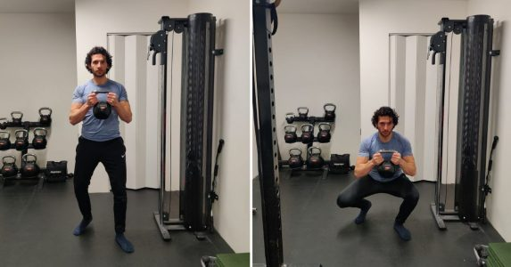 staggered stance squat