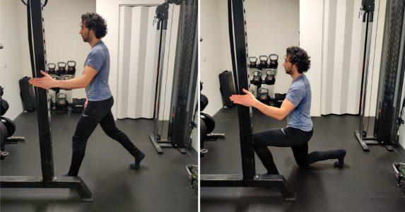 split squat ondersteuning