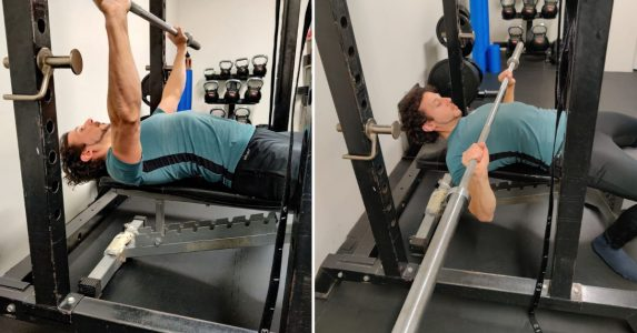 nekpositie bench press